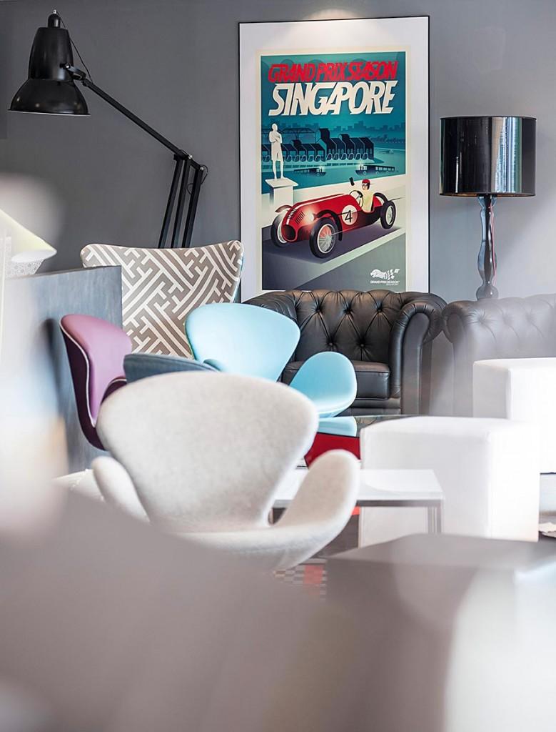Interior Photography of Singapore F1 VIP Suites